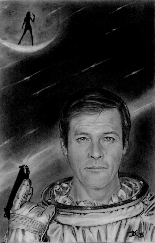 Roger Moore by Dani